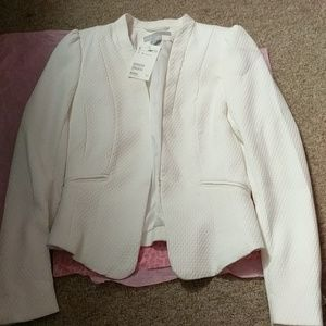H&M White Women's Blazer NWT sz 2
